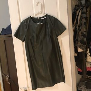 Brand new never worn faux leather green dress